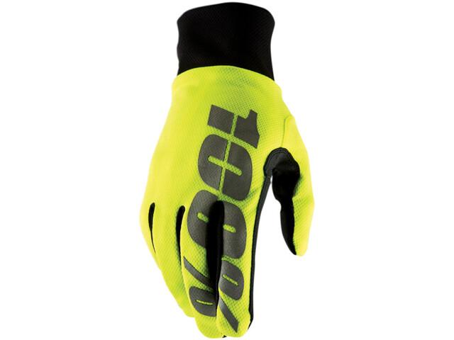 100% Hydromatic Waterproof Gloves neon yellow